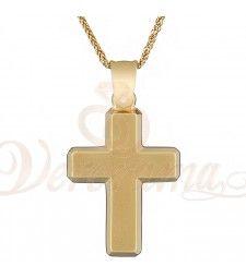 Σταυρός ανδρικός χρυσός Κ14 ST_116 Symbols, Glyphs, Icons