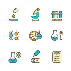 Set line icons of medical analysis. Medical Infographic. $5.00