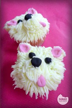 so cool, little westie cup cakes #LOVE