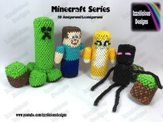 Rainbow Loom Minecraft by Izzalicious Designs https://youtu.be/7T9lX-V3EZ4