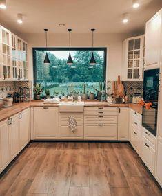 Kitchen Room Design, Cozy Kitchen, Home Decor Kitchen, Interior Design Kitchen, New Kitchen, Home Kitchens, Cuisines Design, Cozy House, Home Decor Inspiration
