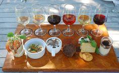 Wine and food pairing art.