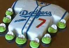 Custom Dodger Cake With Baseball Cupcakes  Yelp