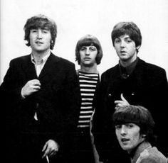 June 1965: The Beatles photographed at Abbey Road Studios, London England, for a Japanese magazine.