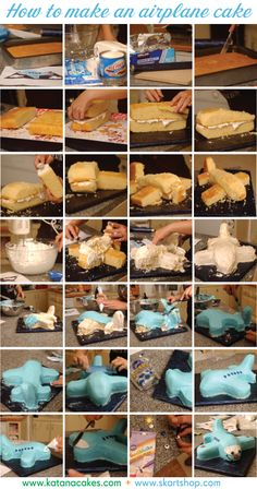 how to make an airplane cake - idea for Xander's b-day