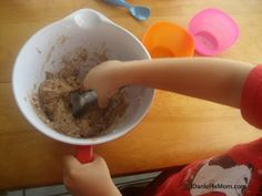 Making Pretend Ice Cream- Three simple ingredients and lots of fun imaginative play. Created after reading Should I Share My Ice Cream