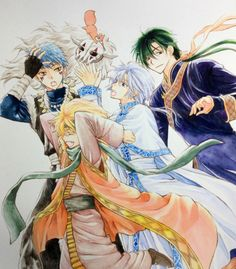The four dragons from Akatsuki no Yona