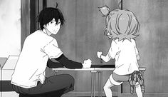 a GIF of sensei throwing a pillow at naru..... *FLOWERS OF MOE*