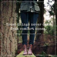 The moment you decide to do something great, you also have to face the fact that you will be bumped out of your comfort zone.  Because that is the only way you can do it. Don't be afraid of the change and don't let fear stop you from chasing your dreams. Instead, be excited of the great possibilities ahead.  Love this quote? Share it with your friends