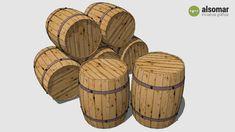 Wooden Barrels - 3D Warehouse