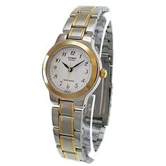 Casio LTP1131G7B Womens Two Tone Easy Reader Metal Fashion Analog Watch ** Find out more about the great product at the image link.Note:It is affiliate link to Amazon.