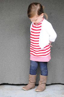 Tutorial: 5-minute tunic for a toddler from one your tanks - It's never to late or early to let girls dress like ladies and not boys or tramps...