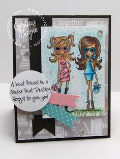 Clover and Violiet Rubbernecker Stamps Created by Copictopia