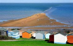 Whistable, Kent: pretty shingle beach with candy coloured huts, thriving harbour and fish market Whitstable Kent, Images Of England, South West Coast Path, Kent England, Seaside Wedding, Basque Country, Weekends Away, Great View, Weekend Getaways