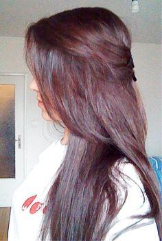 My reddish brown hair