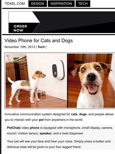 Pet Chatz interactive monitor