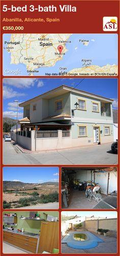 Villa for Sale in Abanilla, Murcia, Spain with 5 bedrooms, 3 bathrooms - A Spanish Life Valencia, Camera Surveillance System, Marble Staircase, Electric Radiators, Granite Worktops, Alicante Spain, Double Bedroom, Murcia, Ground Floor