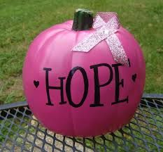 THINK PINK! Just in time for October - Breast Cancer Awareness Month! This pink 6 pumpkin will last year after year! Each pumpkin has Breast Cancer Support, Breast Cancer Survivor, Breast Cancer Awareness, Pink Out, Go Pink, June Bug, Woodland Party, Holiday Fun, Holiday Crafts
