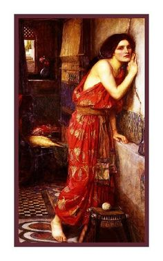 Thisbe a Star Crossed Lover inspired by John William Waterhouse Counted Cross Stitch or Counted Needlepoint Pattern