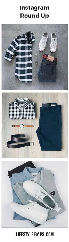 outfit grids for men #mens #fashion #style http://www.99wtf.net/young-style/urban-style/mens-denim-shirt-urban-fashion-2016/