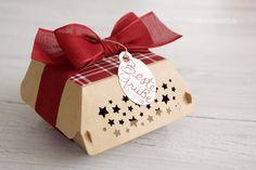 Schöne weihnachtliche Box um selbstgebackenes zu verschenken