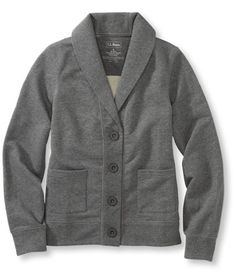 Shawl-collar French terry cardigan from L.L. Bean, available in 6 colors, $44.50