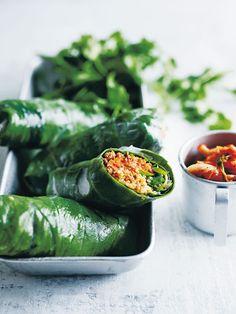 Turkey Kimchi And Quinoa Rice Paper Rolls   Donna Hay