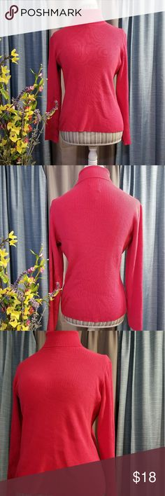 🌻🌺🌻CHICO'S SILK BLEND SPRING TURTLENECK!! SIZE:size 1 (chico's sizing)   BRAND:Chico's   CONDITION:good but has a couple fabric knots and wear on one back bottom part of the shirt (please see last 2 pics)   COLOR:pink (best seen in 4th pic)  Perfect for spring ♥️🌻 silk blend   🌟POSH AMBASSADOR, BUY WITH CONFIDENCE!   🌟CHECK OUT MY OTHER ITEMS TO BUNDLE AND SAVE ON SHIPPING!   🌟OFFERS WELCOME!   🌟FAST SHIPPING! Chico's Tops