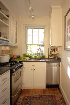 Cottage-sized kitchen