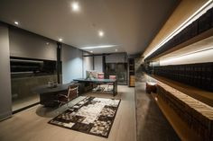 Concrete House in Johannesburg is a testament to the strength of a concept and its seamless execution – where the architecture, interiors and technology all work together harmoniously. Home Cinemas, Home Automation, Outdoor Entertaining, Home Theater, Home Projects, Concrete, Technology, Table, House