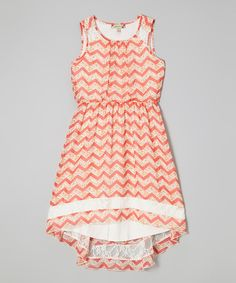 Another great find on #zulily! Speechless Coral Zigzag Hi-Low Dress by Speechless #zulilyfinds