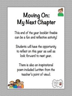 "FREE ""Moving On: My Next Chapter"" End of the Year Activity"