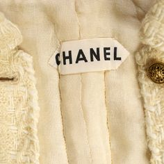 Chanel label in a 1960's jacket. Note the quilting. KSUM 1986.46.2a