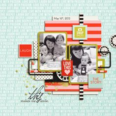 Digital Scrapbook page created by icajovita featuring Melon Sorbet by Sahlin Studio