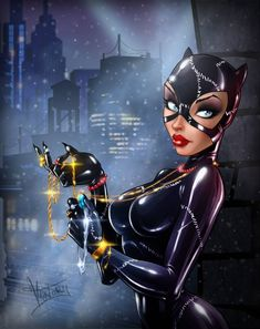 Catwoman by ShatilovaVictoria on DeviantArt Comic Book Characters, Comic Character, Comic Books Art, Batman Und Catwoman, Batgirl, Black Catwoman, Batman Art, Comic Art Girls, Comics Girls