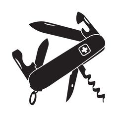 swiss army knife silhouette - Google Search