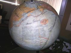The Greatest Globe on Earth - signed by 85 of the greatest explorers of modern times.