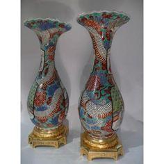 Paire De Vases Du Japon
