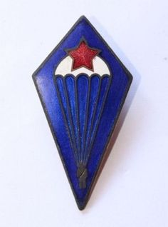 Czechoslovakia-post-1965-Air-Force-Paratroopers-Parachute-Badge-FXRL