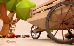 Low Poly-Fruit on Behance