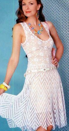 ~ Crochet Style ~: ~Vestido Blanco~