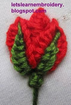 Let's learn embroidery: Rosebud-buttonhole knot 3 - /lystessa/embroidery/  911 BACK