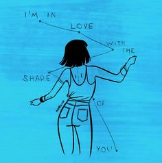 """agaboum: """" So I'm obsessed with Ed Sheeran's new song, and I needed to make art about it, so there goes. Go listen to it honestly, if you like Ed Sheeran it's a home run guaranteed. Song Lyric Quotes, Lyric Art, Music Quotes, Music Lyrics, Shape Of You Lyrics, Shape Of You Ed, Rhapsody In Blue, Im In Love, Music Is Life"""