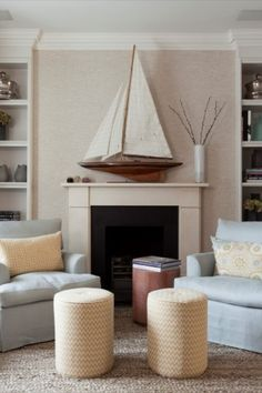 Melissa and Miller Interiors designed a sophisticated house in central London inspired by the Hamptons Beach Houses: the designers used the warmth, colours and comfort, often founded in these houses, as the main inspiration for this project.  #interiordesign #architecturedesign #contemporarydesign #moderndesign #classicdesign #mid-centurydesign #eclecticdesign