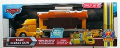 Disney / Pixar CARS Movie 155 Die Cast Cars Exclusive Set Team Octane Gain Hauler, Octane Gain & Pitty by Mattel. $49.99. Open and load car inside of semi. Octane Gain Hauler. Highly detailed cars feature rolling wheels. Octane Gain Pitty. Octane Gain No. 58 car. Disney Pixar CARS HTB Hauler, your favorite CARS character in 1:55 scale with their own unique trailer. The trailer opens in a unique way and offers loads of fun play adventures. Includes Octane Gain Ha...