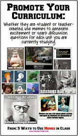 Promote your curriculum in your classroom using memes {from www.traceeorman.com}
