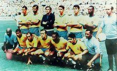 Copa de 1970 - Esquadrão brasileiro tricampeão mundial na Copa do Mundo de 1970 posa para foto antes de partida