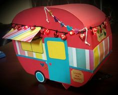 Camper Valentine's Box with lights