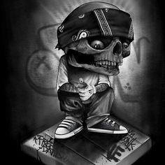 Evil Skull Tattoo, Skull Tattoos, Arte Cholo, Outlaw Tattoo, Arte Lowrider, Aztecas Art, Badass Drawings, Badass Skulls, Skull Sketch