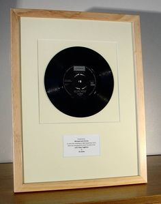 framed 'first dance' wedding song by the old record shop | notonthehighstreet.com